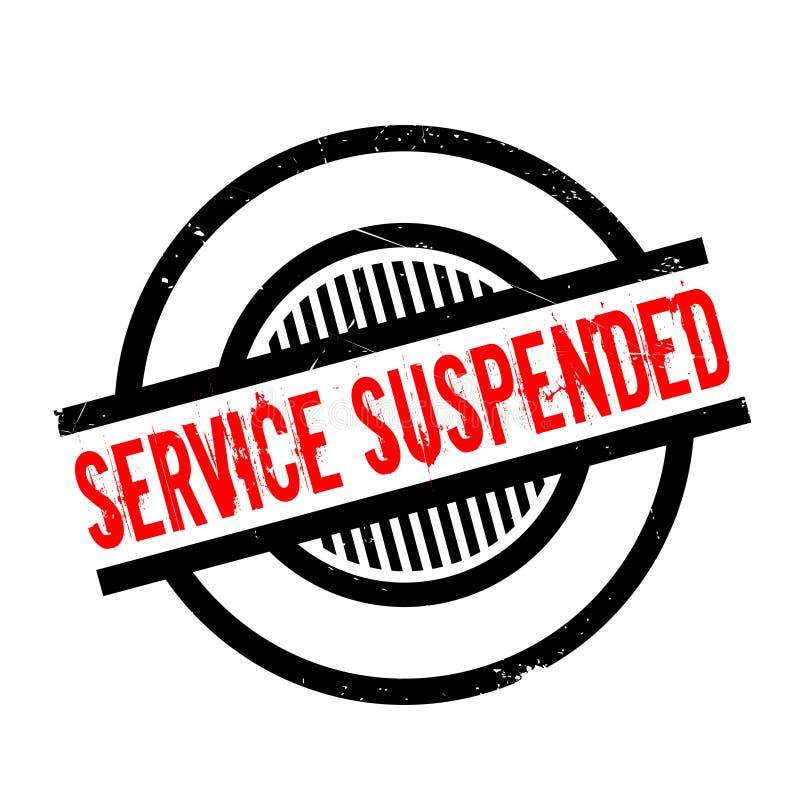 Preste serviços de manutenção ao carimbo de borracha suspendido ilustração do vetor