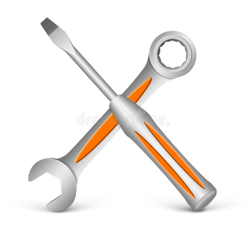 Preste serviços de manutenção ao conceito ilustração royalty free