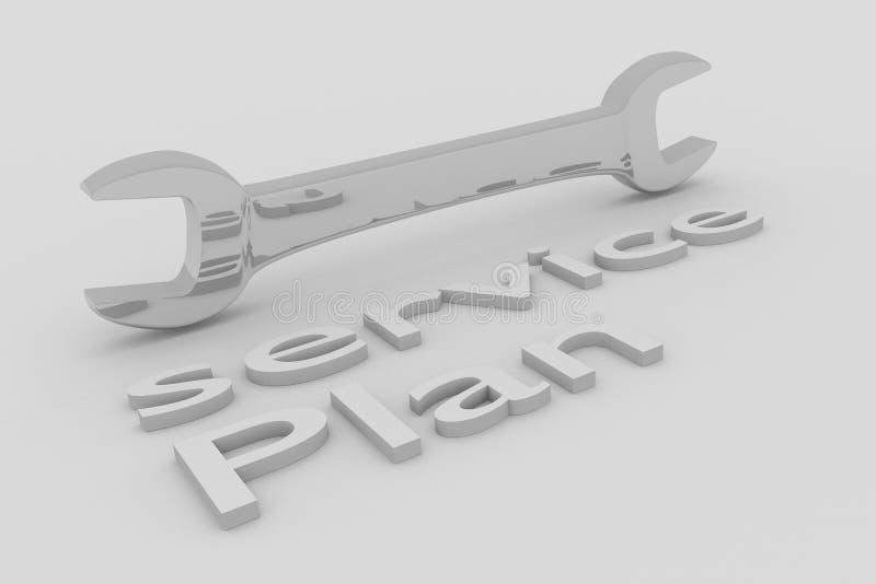 Preste serviços de manutenção ao conceito do plano ilustração royalty free