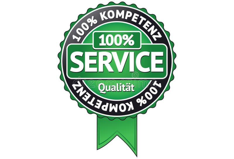 Preste serviços de manutenção ao emblema ilustração stock