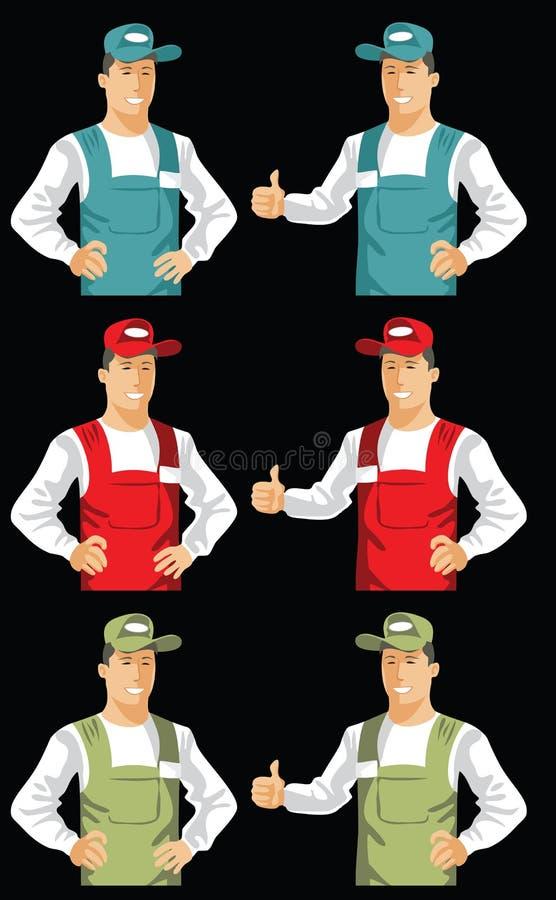 Preste serviços de manutenção ao homem ilustração do vetor