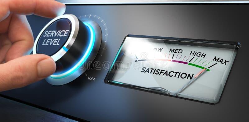 Preste serviços de manutenção ao indicador da satisfação ilustração stock