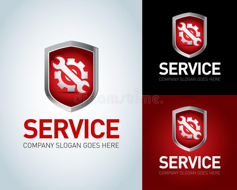 Preste serviços de manutenção ao molde do logotipo, preste serviços de manutenção ao ícone Preste serviços de manutenção à crista ilustração do vetor