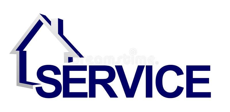 Preste serviços de manutenção ao sinal ilustração do vetor