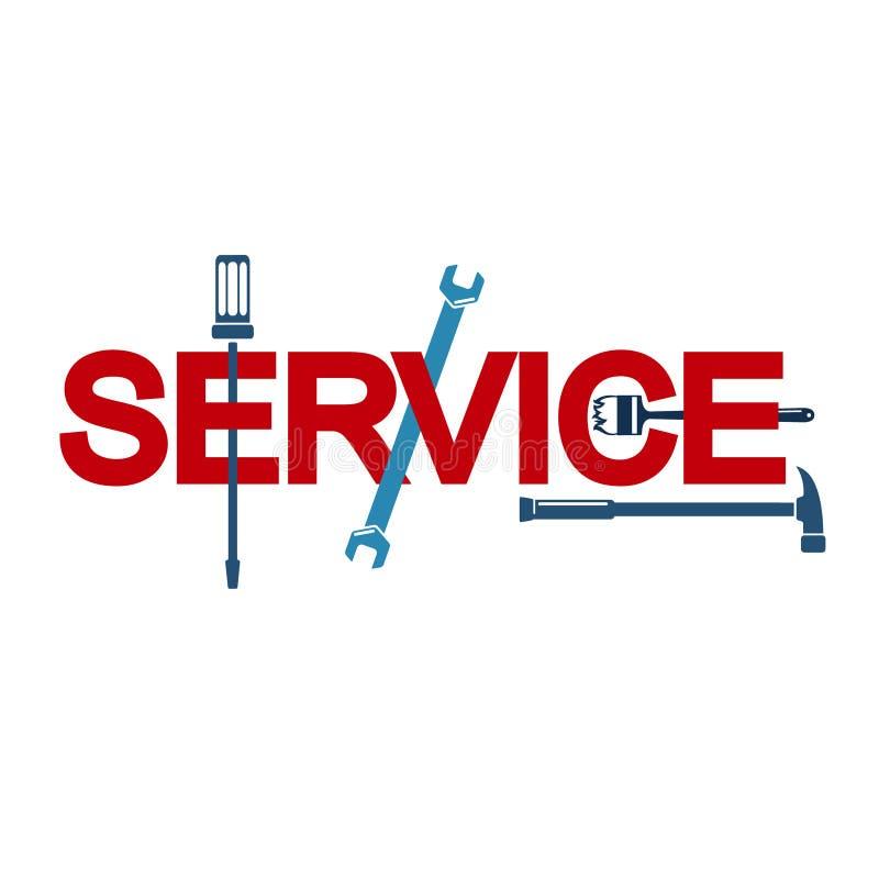 Preste serviços de manutenção ao sinal com a ferramenta ilustração do vetor