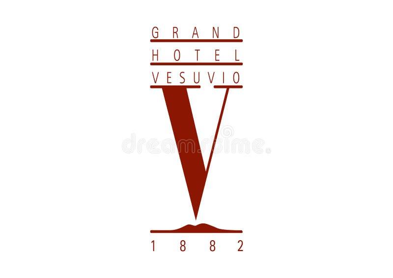 Logo Grand Hotel Vesuvio vector illustration