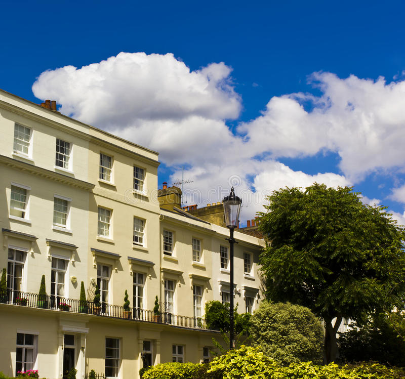 Prestige London Houses. Luxury houses in Notting Hill, London stock images