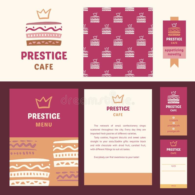 Prestigecafé, elegante Art vektor abbildung