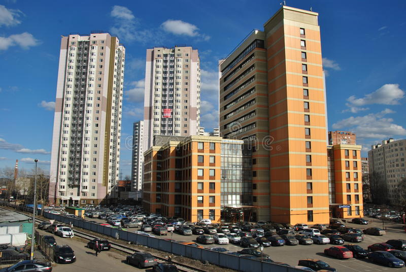 Prestigious business district in the center of Moscow stock photo