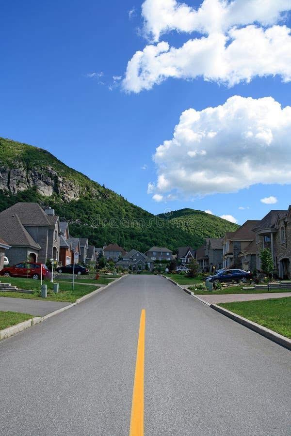 Prestigious Suburban Houses Royalty Free Stock Photo