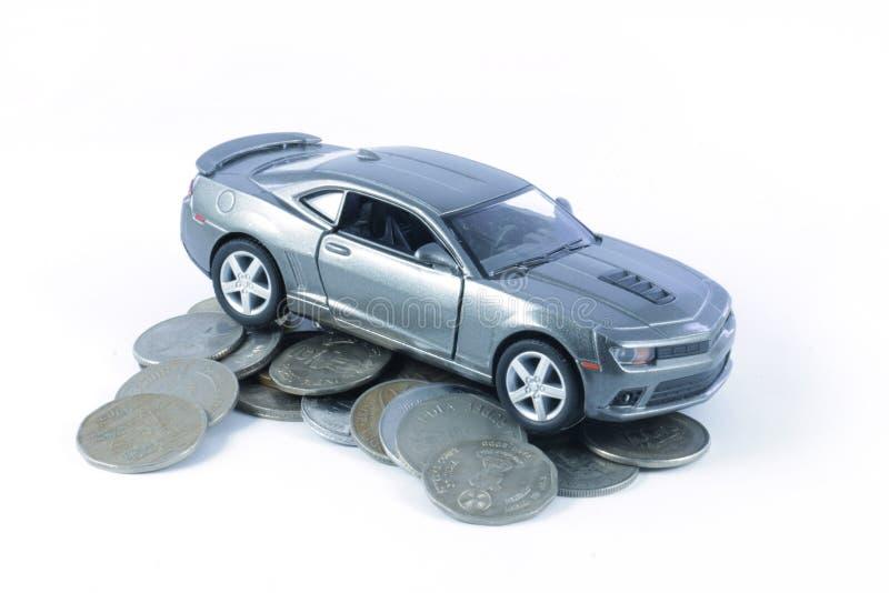Prestito di automobile, assicurazione auto, spese dell'automobile immagine stock