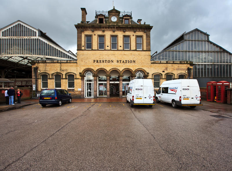 Preston-Bahnstation stockfotografie