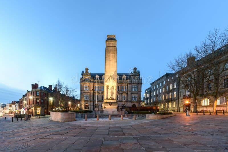 Preston Cenotaph Lancashire Reino Unido foto de archivo