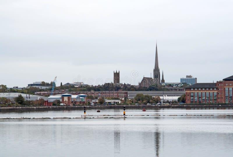 Preston-Ufergegend stockbilder
