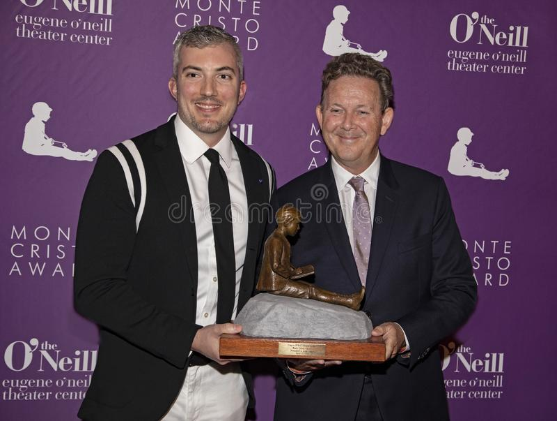 Preston Whiteway och John Logan på den 19th årliga Monte Cristo Award royaltyfri fotografi
