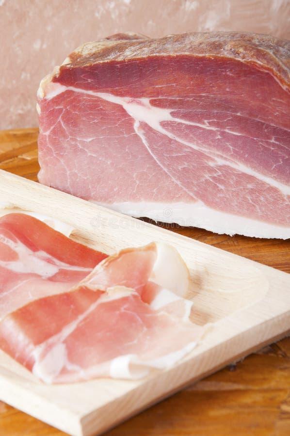 Presunto Curado Carne De Porco Fotografia de Stock