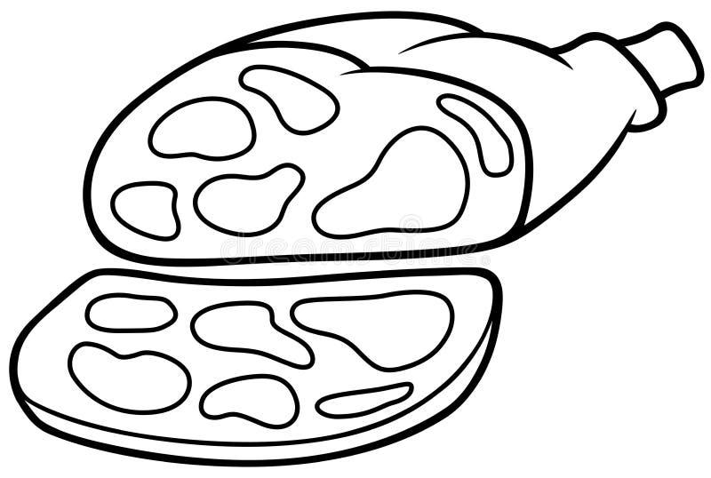 Presunto da carne de porco ilustração do vetor