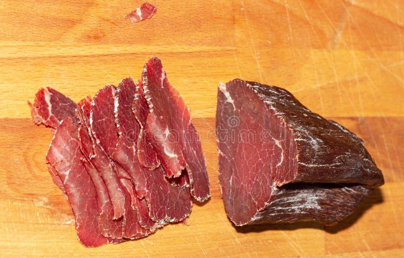 presunto De madeira carne smoked fotos de stock