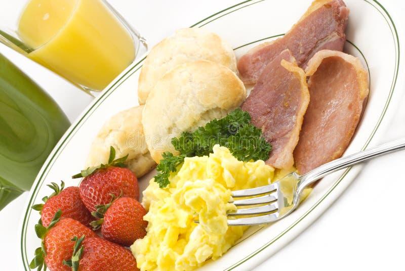 Presunto do país e pequeno almoço do ovo fotos de stock