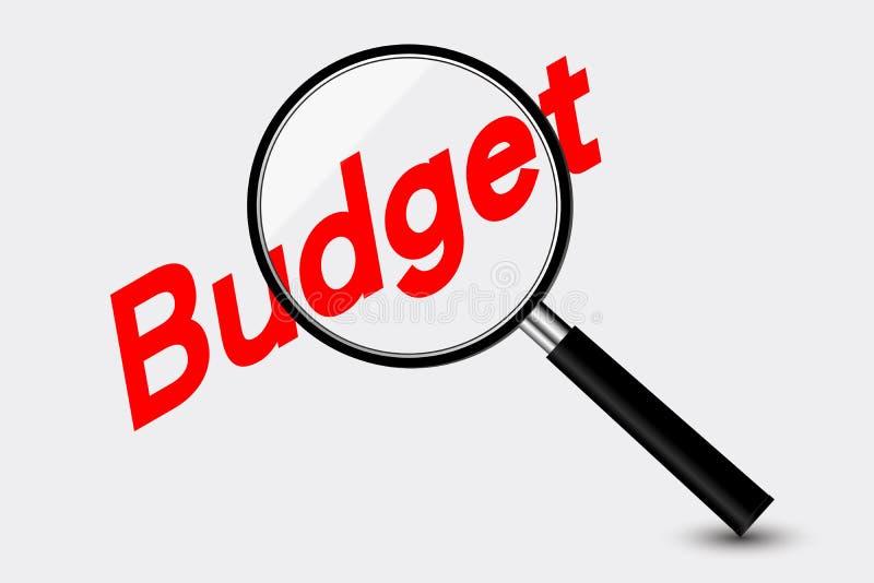 presupuesto stock de ilustración