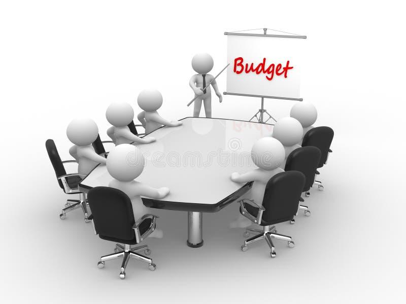 presupuesto ilustración del vector