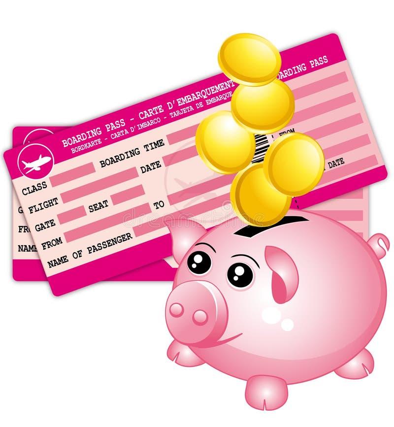Presupuesto de viaje. stock de ilustración