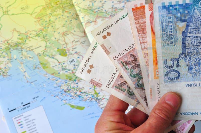 Presupuesto de viaje a Croacia imagen de archivo