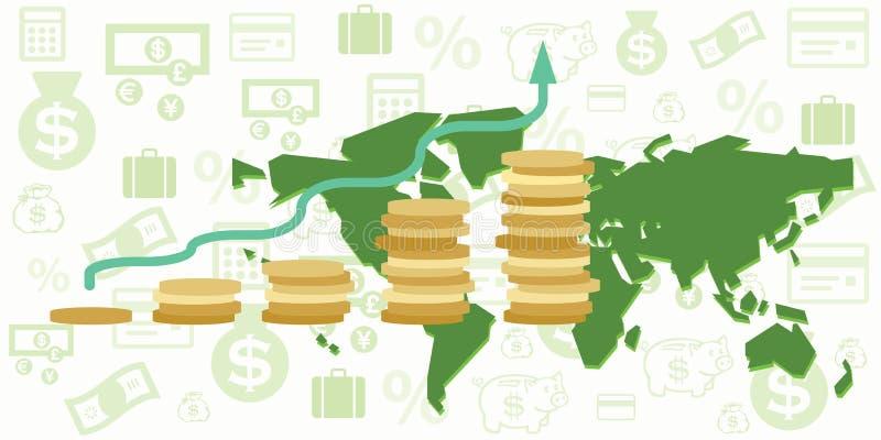 Presupuesto del mapa del mundo stock de ilustración