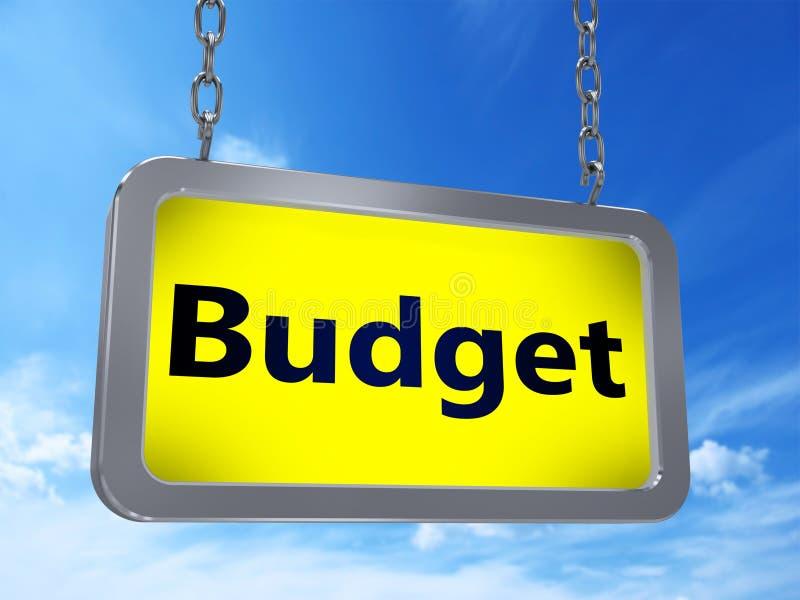 Presupuesto en la cartelera stock de ilustración