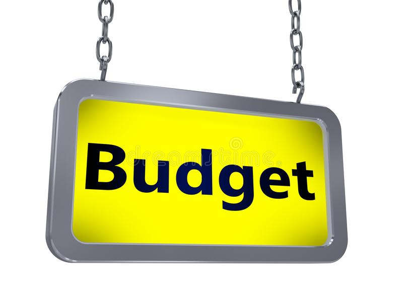 Presupuesto en la cartelera libre illustration