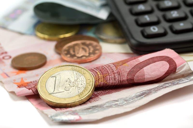 Presupuesto Euro Imagen de archivo libre de regalías