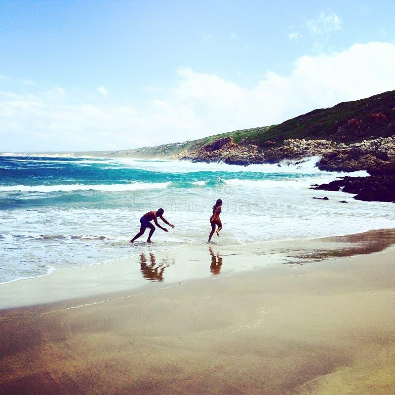 Pret bij het strand stock afbeeldingen