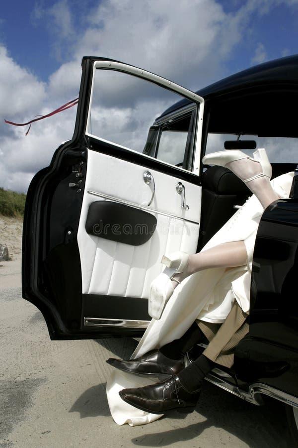 Pret in de auto royalty-vrije stock foto