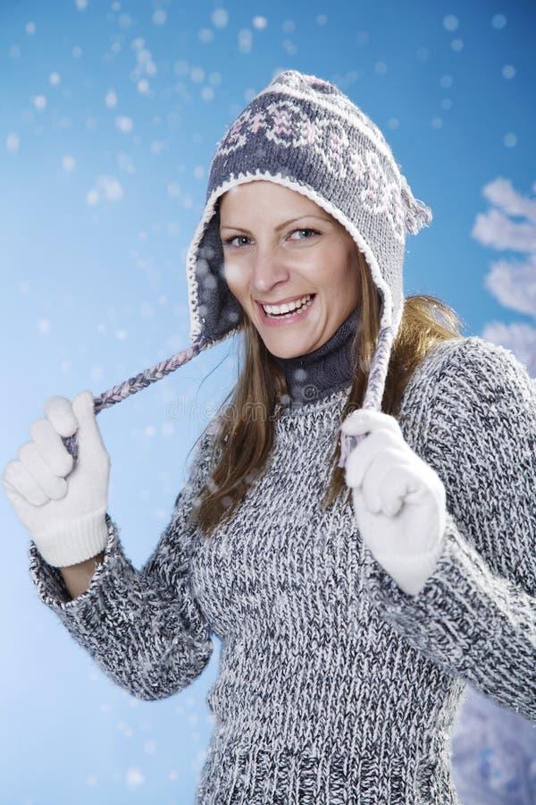 Pret in de sneeuw stock afbeeldingen