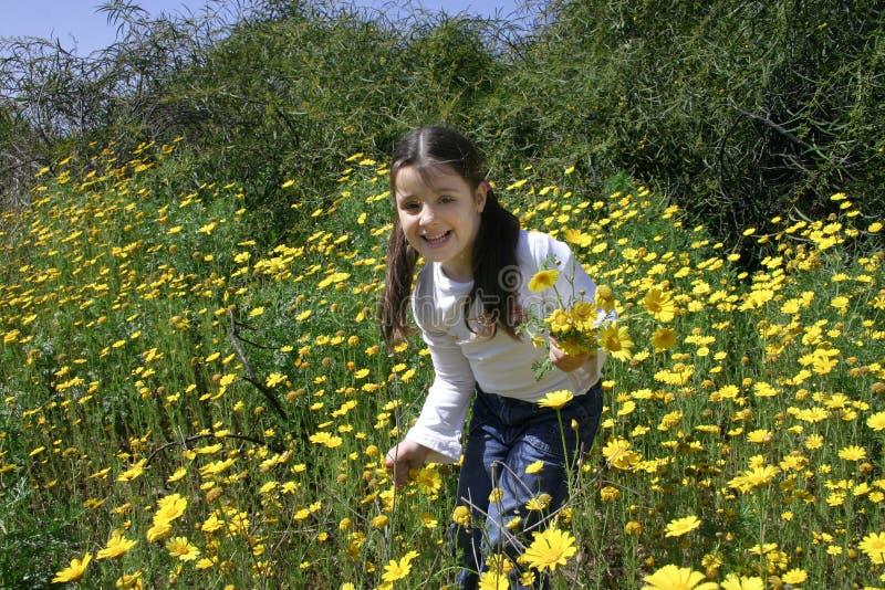 Pret met bloemen royalty-vrije stock fotografie