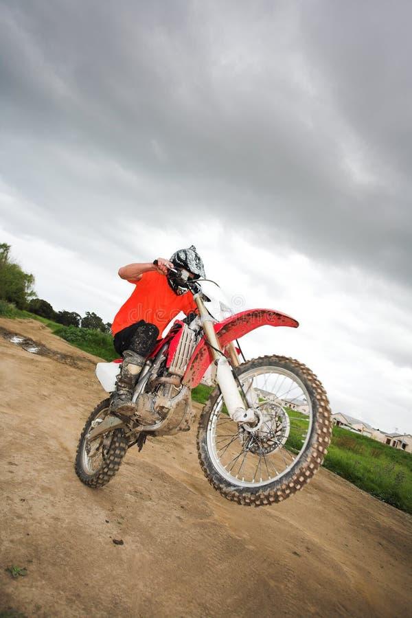 Pret op de motocrossfiets royalty-vrije stock foto's