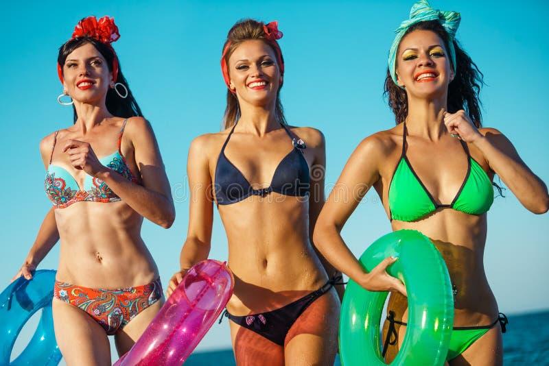 Pret op het strand royalty-vrije stock foto's