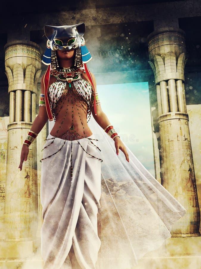 Prete egiziano mascherato illustrazione vettoriale