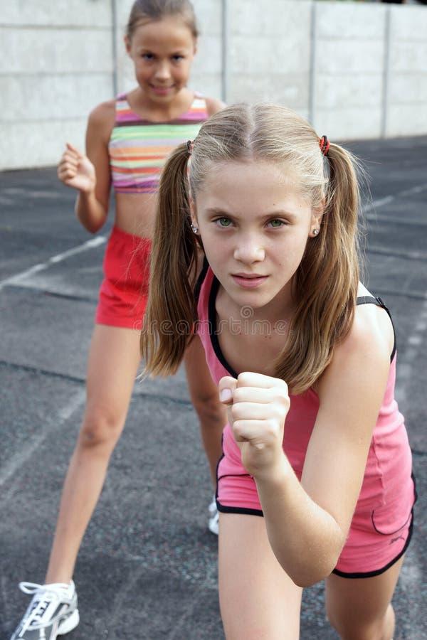 Young Pre Teen Girl Female Woman Torso Vertical Format: Preteen Girls Running Stock Photo. Image Of Green
