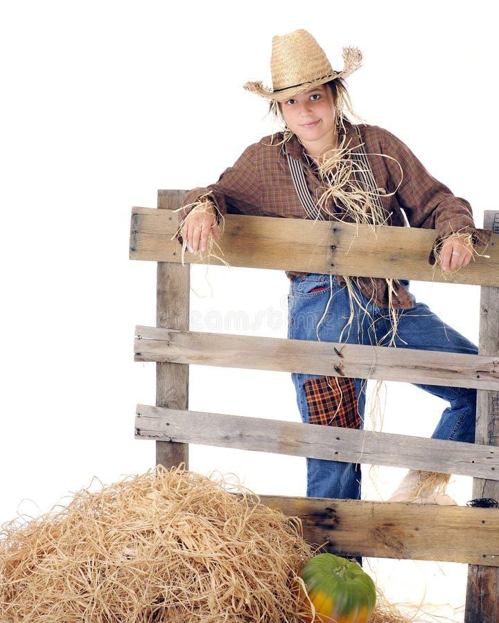 Preteen Scarecrow stock image
