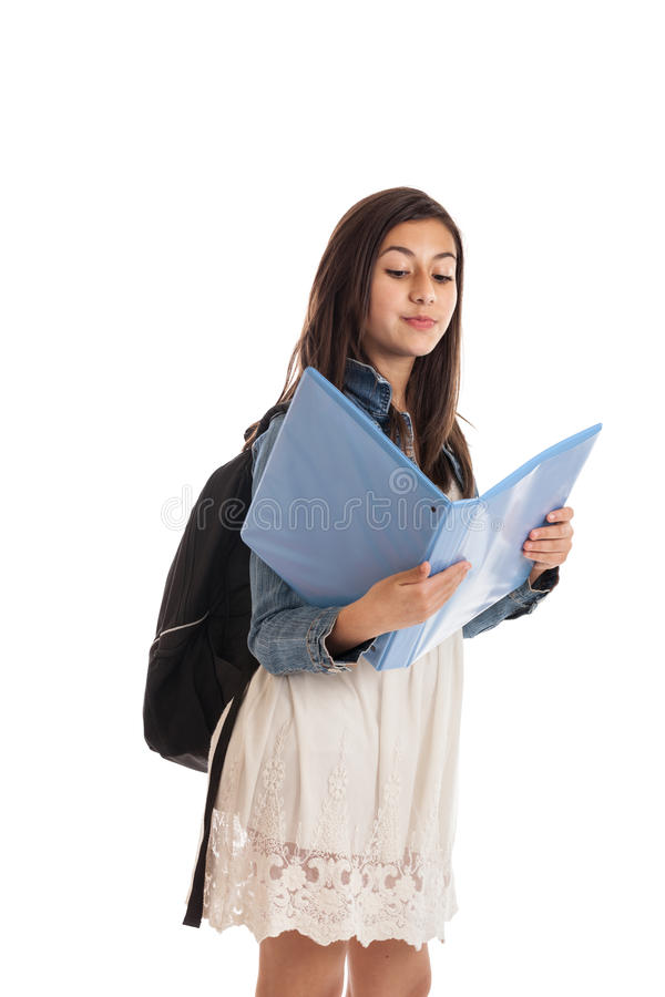 Preteen Student With Folder Royalty Free Stock Photo