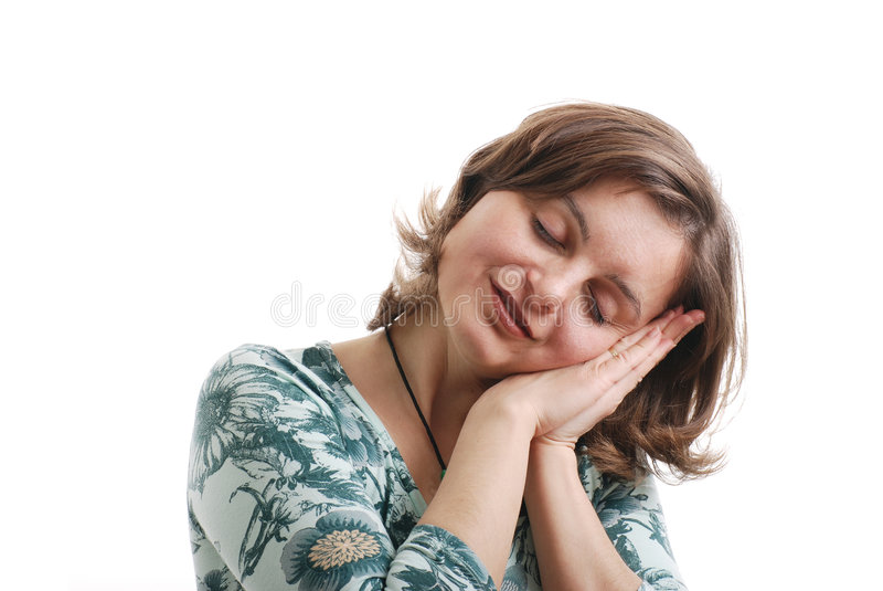 Download Pretend to sleep stock photo. Image of isolated, lifestyle - 4983606