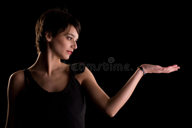 Download Pretending to hold stock image. Image of serious, lady - 9490545