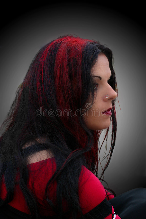 Preto & vermelho fotos de stock royalty free