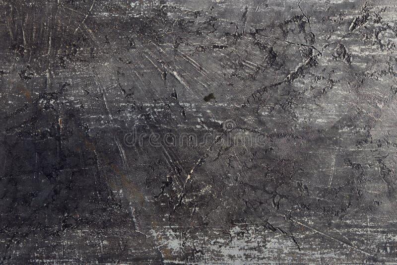 Preto branco do fundo de pedra áspero da coleção, fim acima do detalhe para ver a textura da areia, escova, c foto de stock