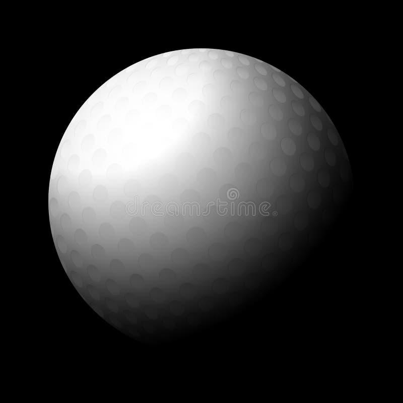 Preto da bola de golfe ilustração royalty free