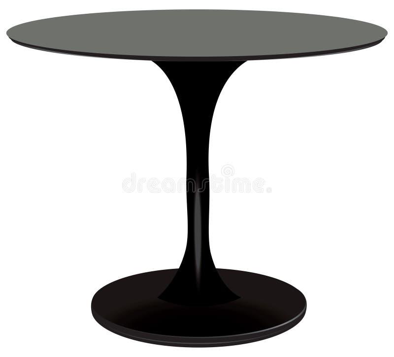 Preto da mesa redonda ilustração do vetor