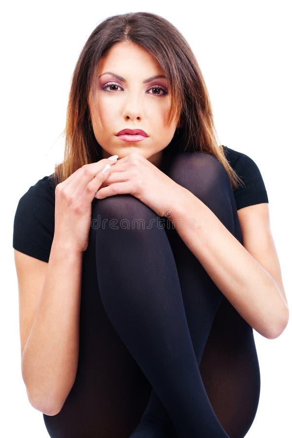 Preto da mulher vestido fotos de stock royalty free