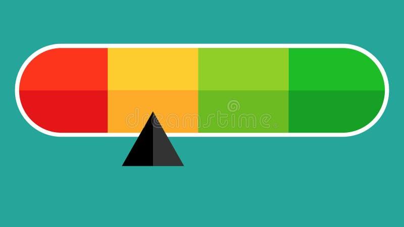 preto diferente do nível da exibição do ícone do vetor triangular ilustração royalty free