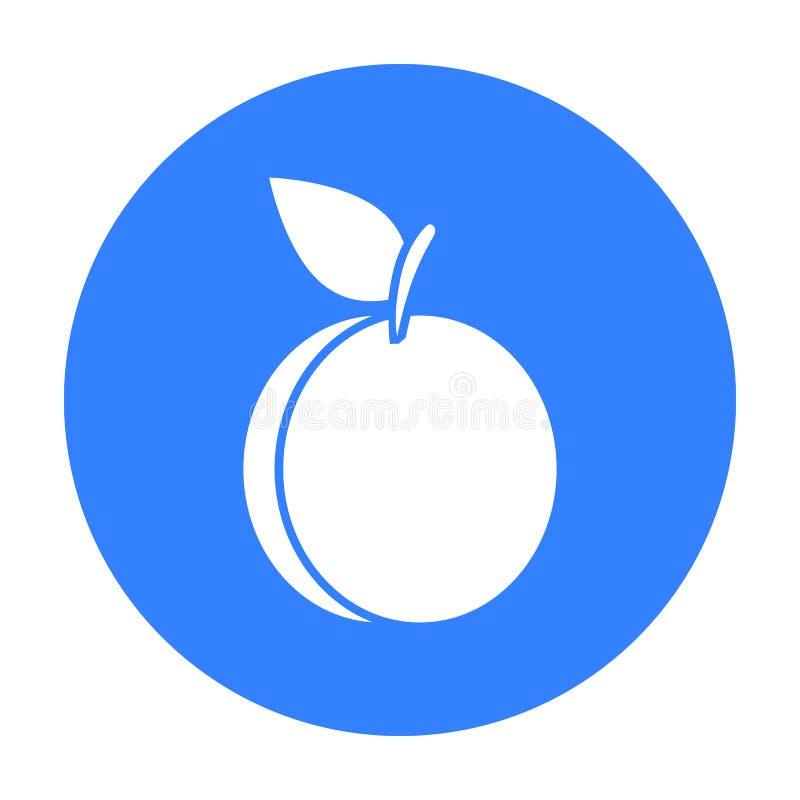 Preto do ícone da ameixa Ícone do fruto da chamuscadela ilustração royalty free